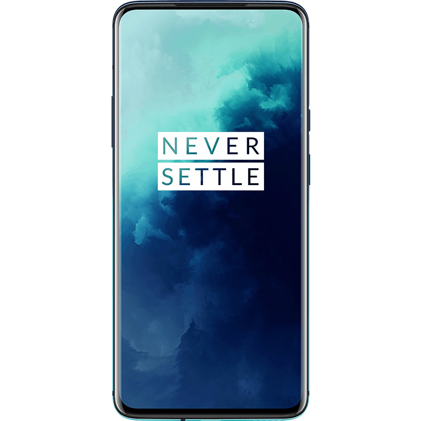 Image of Oneplus 7T Pro HD1910 8GB/256GB Dual Sim with Screen Protector and Folding Case (Black) - Haze Blue (CN Ver. with flashed OS)