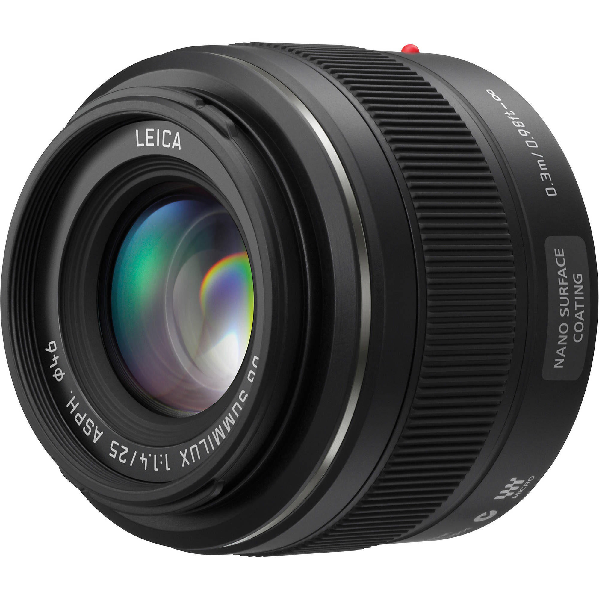 Image of Panasonic LEICA DG SUMMILUX 25mm f/1.4 ASPH Lens H-X025E