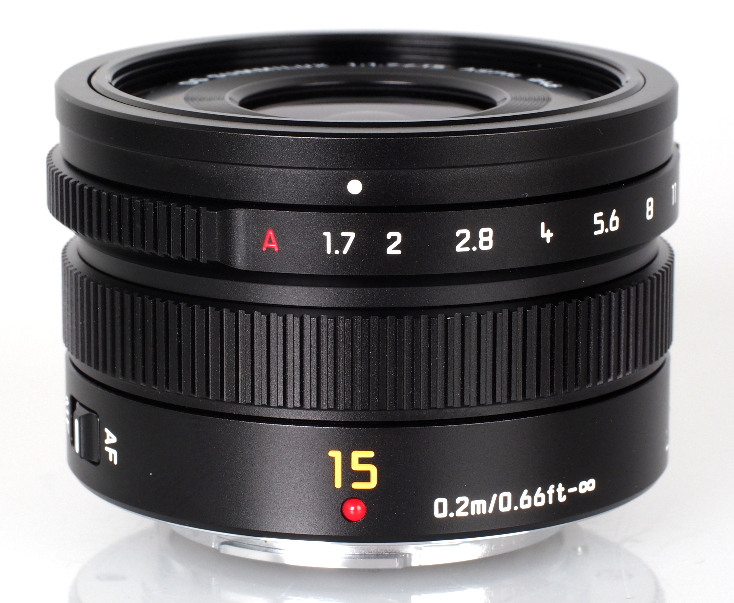 Image of Panasonic LUMIX G LEICA DG SUMMILUX 15mm f/1.7 ASPH Lens Black H-X015K