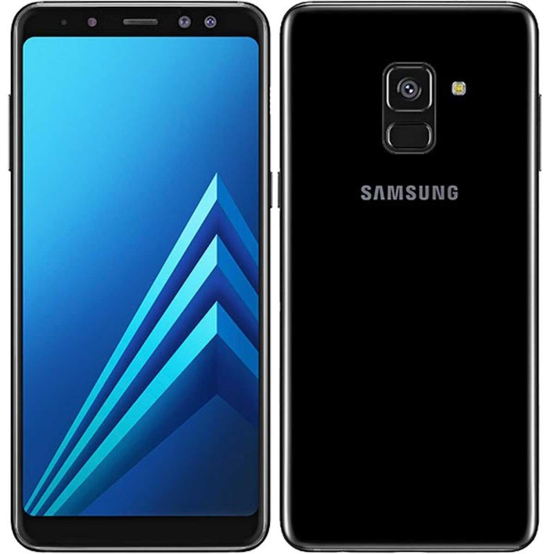 Search and compare best prices of Samsung Galaxy A8 (2018) A530 Dual sim 4GB/32GB with Tempered Glass Screen Protector - Black in UK