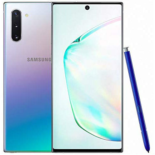 Image of Samsung Galaxy Note 10 N970FD 8GB/256GB Dual Sim with Tempered Glass Screen Protector and Folding Case (Black) - Aura Glow