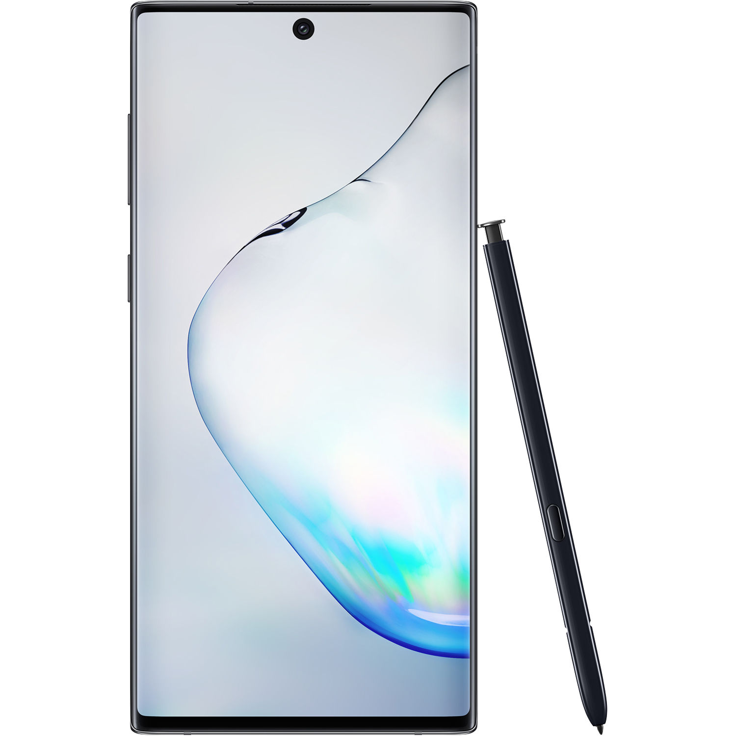 Image of Samsung Galaxy Note 10 N970FD 8GB/256GB Dual Sim with Tempered Glass Screen Protector and Folding Case (Black) - Aura Black