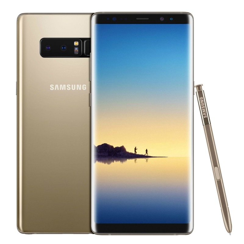 Image of Samsung Galaxy Note 8 N950FD Dual sim 6gb ram 64gb with AWEI T3 True Wireless Earbuds with Charging Case - Maple Gold