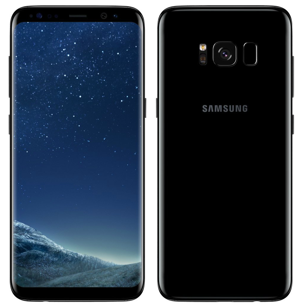 Image of Samsung Galaxy S8 Plus G955FD Dual Sim 4G 64GB SIM FREE/ UNLOCKED with Screen Protector for Samsung Galaxy S8 Plus (Curved Protection Film) - Midnight Black