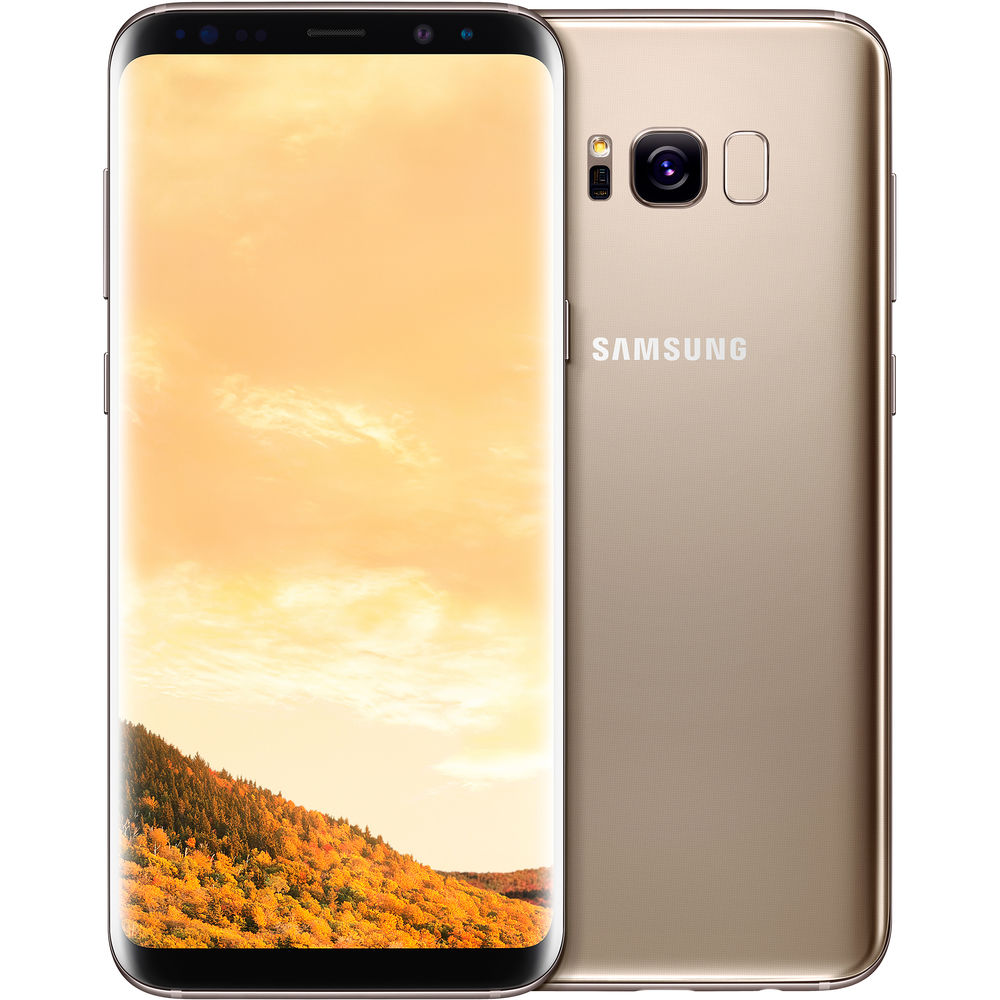 Image of Samsung Galaxy S8 Plus G955FD Dual Sim 4G 64GB with Screen Protector for Samsung Galaxy S8 Plus (Curved Protection Film) - Maple Gold