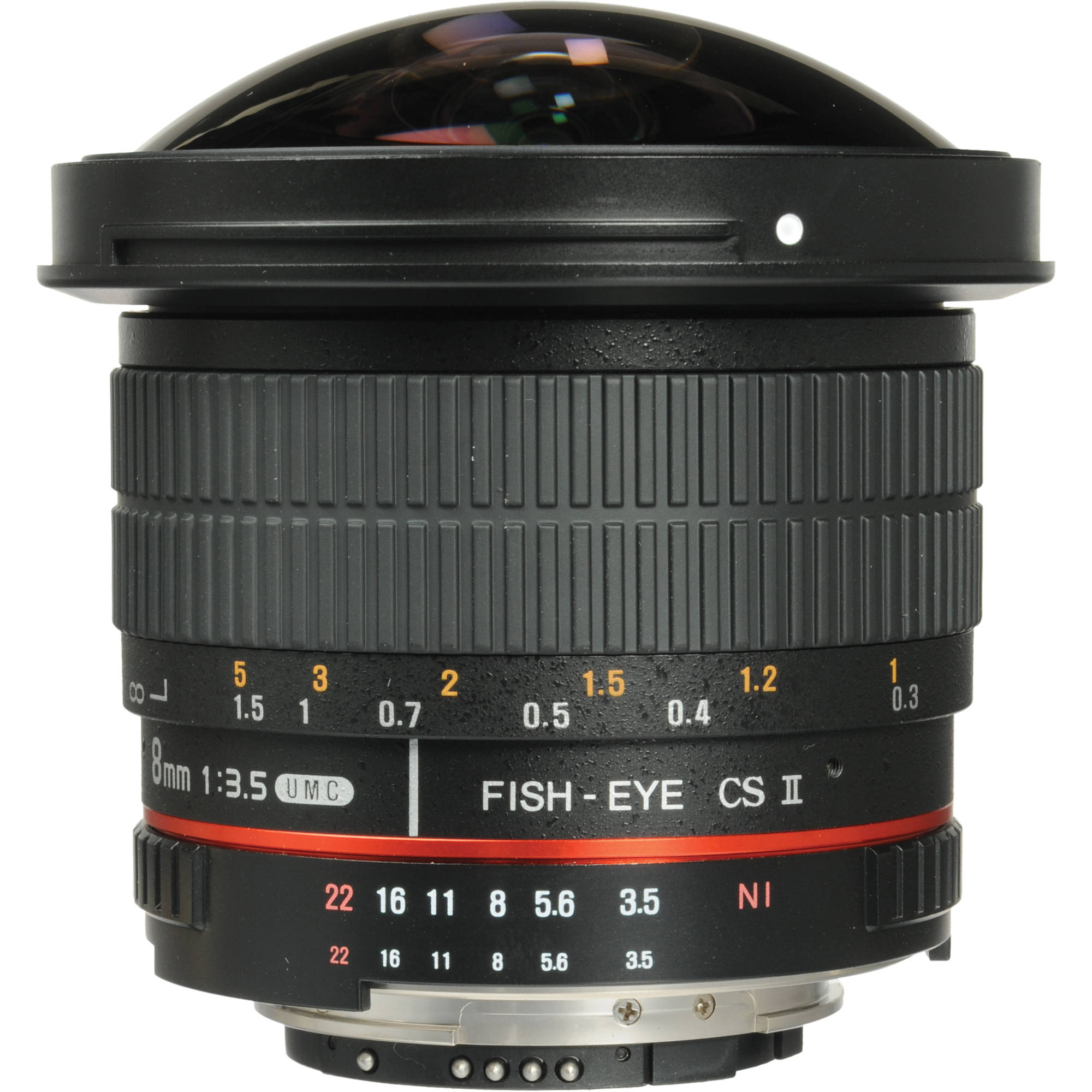 Image of Samyang 8mm f/3.5 Fisheye AE For Nikon Mount Hood Detachable