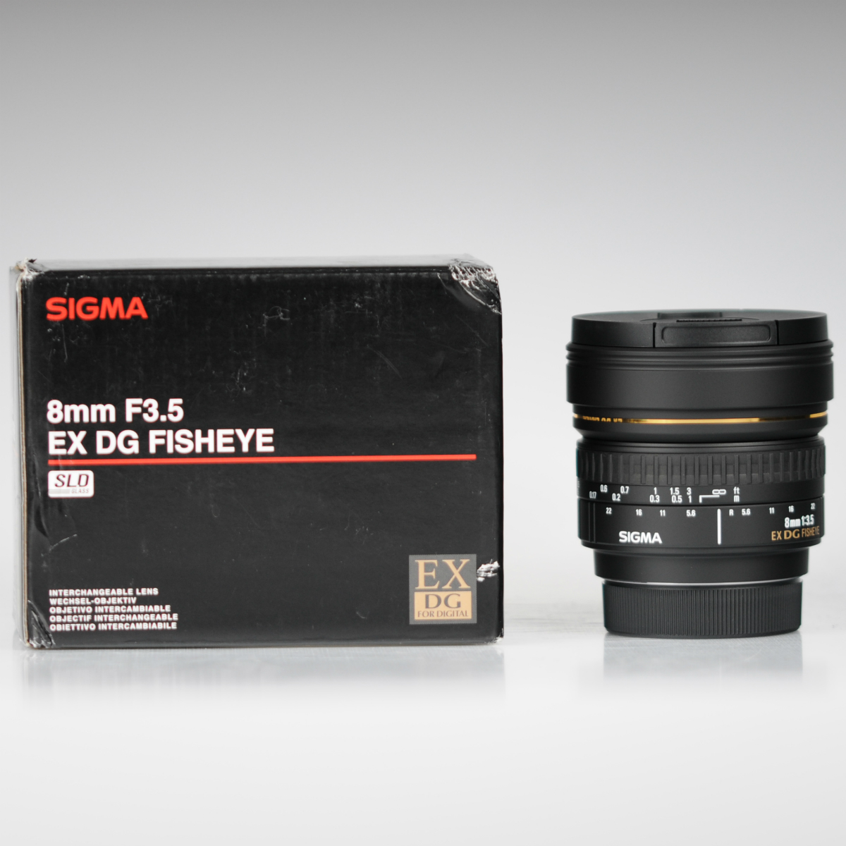 Image of Sigma 8mm f/3.5 EX DG Circular Fisheye Lens For Nikon Mount