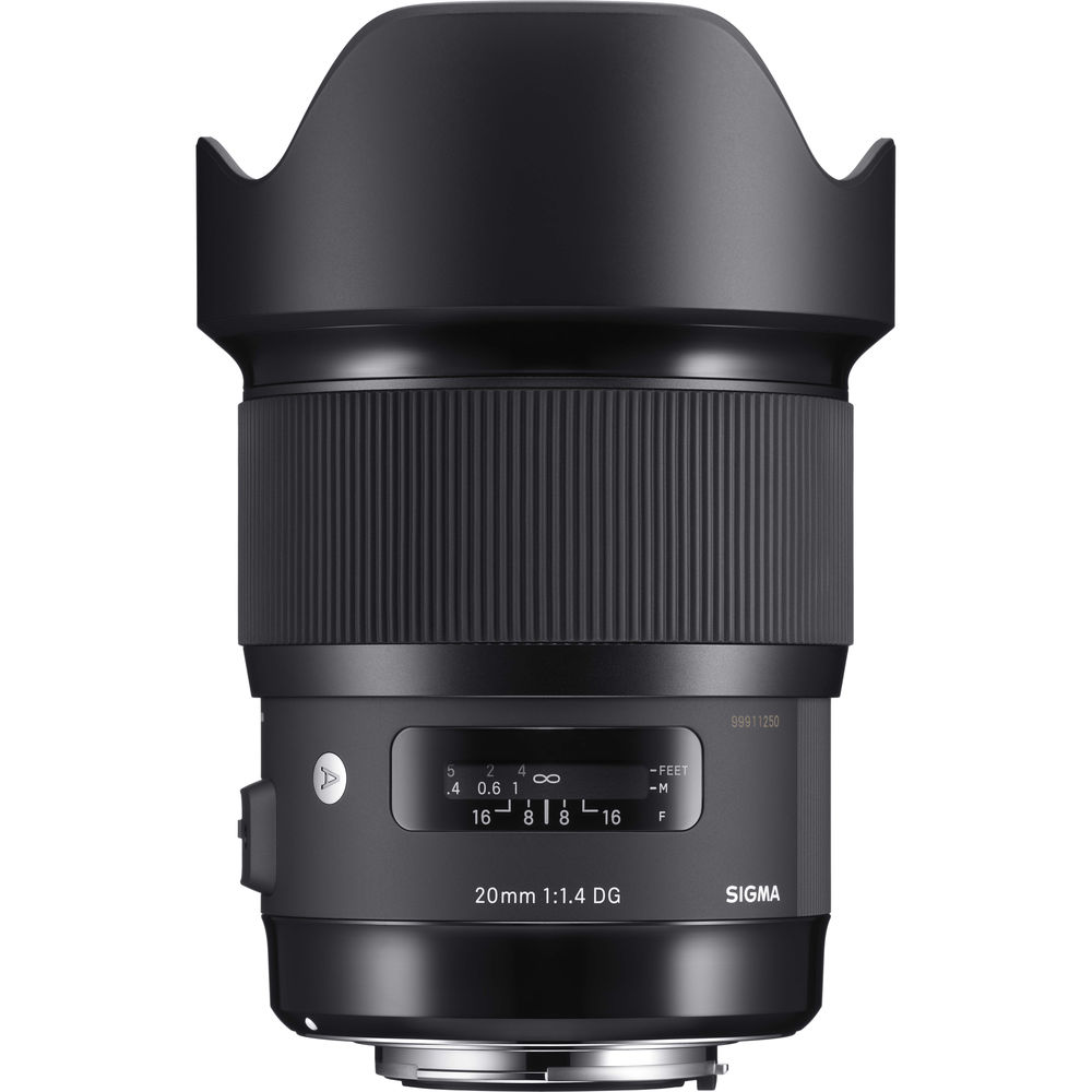 Image of Sigma ART 20mm F1.4 DG HSM lenses for Canon mount