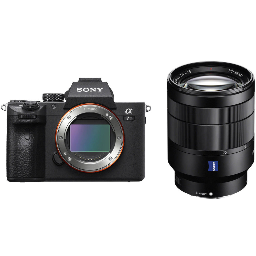 Image of Sony Alpha A7III Mirrorless Digital Cameras with FE 24-70mm F4 ZA OSS Lens (JE international version)