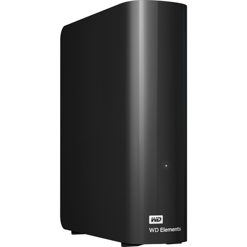 Image of Western Digital 3.5 inch Elements USB 3.0 External Drive 4TB WDBBKG0040HBK