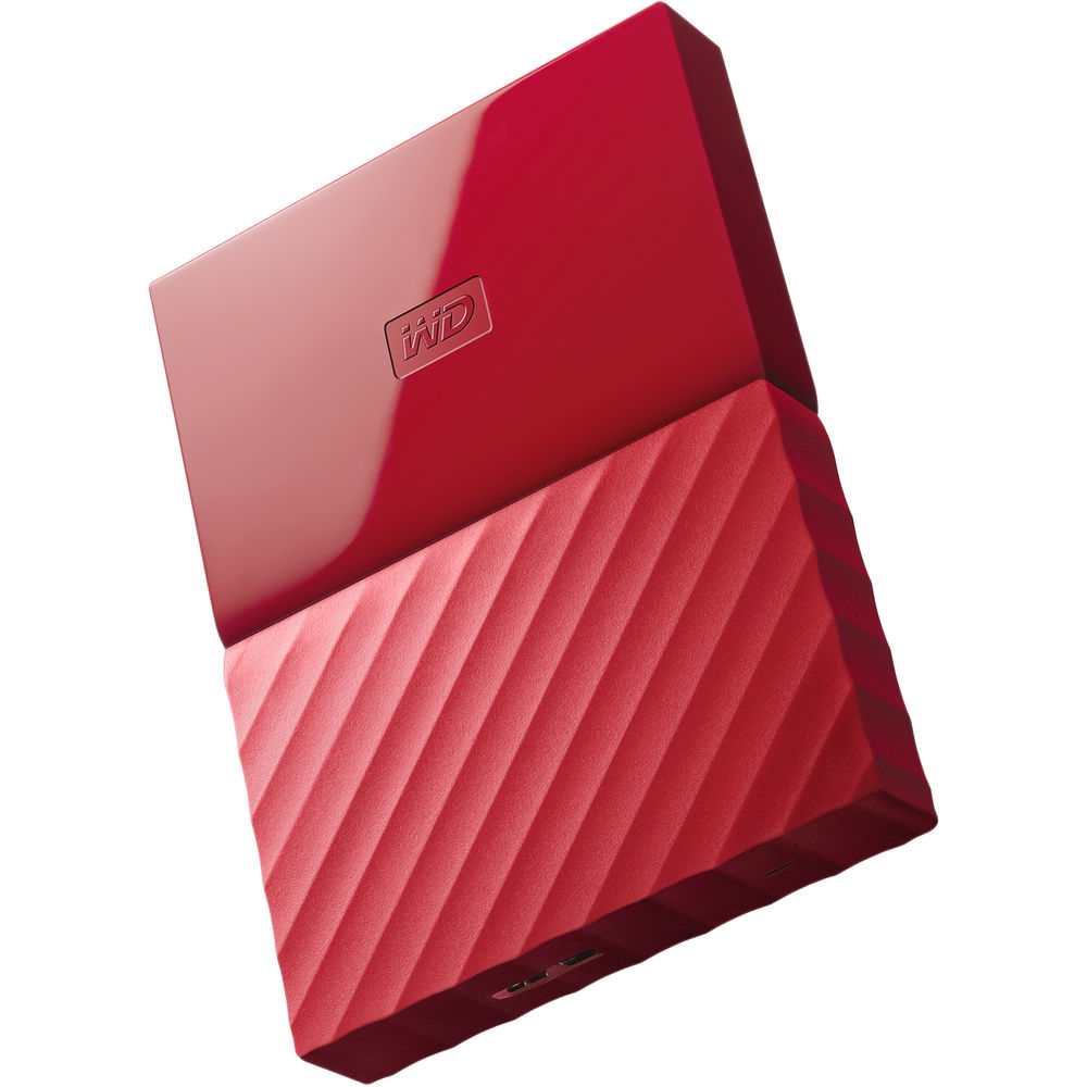 Image of Western Digital My Passport 2.5 inch USB 3.0 External Drive 1TB WDBYNN0010BRD - Red
