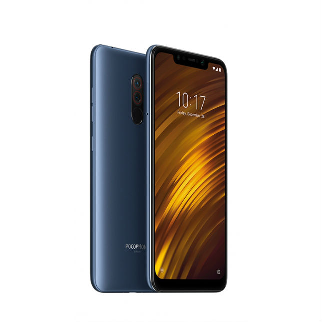 Image of Xiaomi Pocophone F1 6GB/64GB Dual Sim with 32GB Micro SDHC Memory Card with SD Adapter - Blue