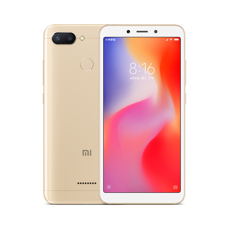 Image of Xiaomi Redmi 6 3GB/ 32GB Dual Sim SIM FREE/ UNLOCKED with 32GB Micro SDHC Memory Card with SD Adapter - Gold