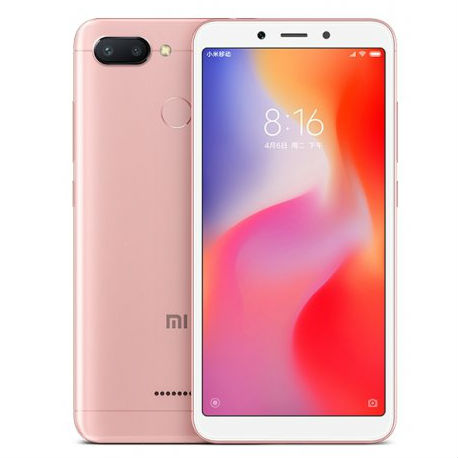 Image of Xiaomi Redmi 6 4GB/ 64GB Dual Sim SIM FREE/ UNLOCKED with 32GB Micro SDHC Memory Card with SD Adapter - Pink
