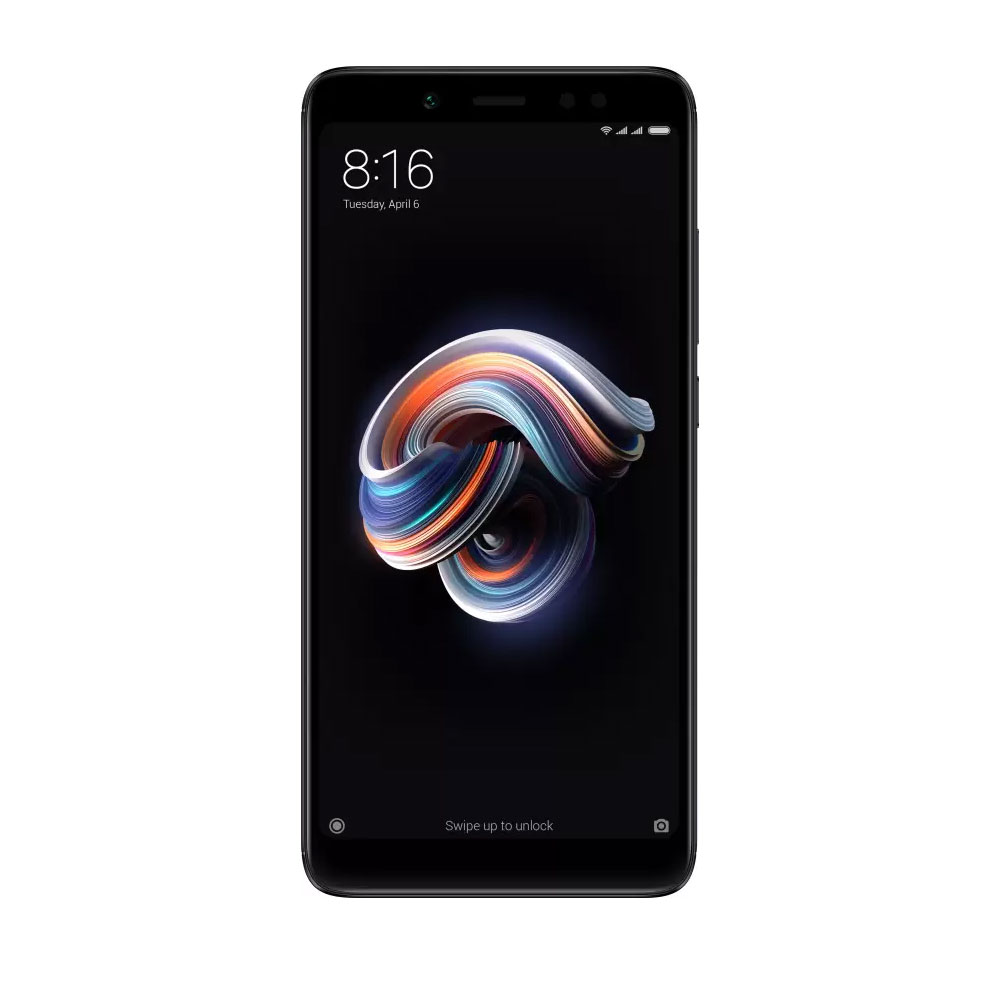 Image of Xiaomi Redmi Note 5 6GB/64GB Dual Sim with 0.3mm Tempered Glass Screen Protector & Folding Case (Black) - Black