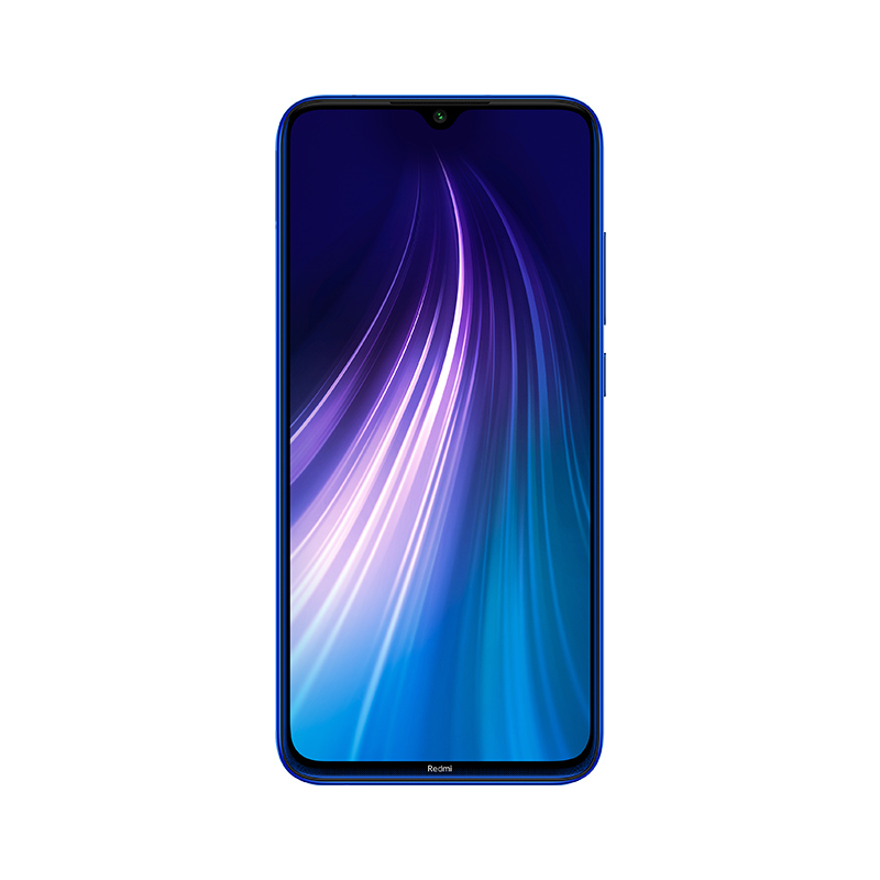 Image of Xiaomi Redmi Note 8 3GB/32GB Dual Sim with Screen Protector and Folding Case (Black) - Neptune Blue (International Ver.)