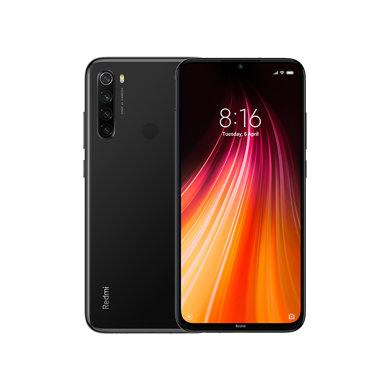 Image of Xiaomi Redmi Note 8 3GB/32GB Dual Sim with Screen Protector and Folding Case (Black) - Space Black (International Ver.)
