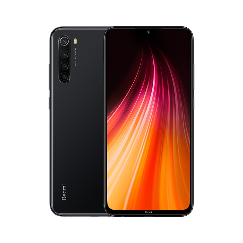 Image of Xiaomi Redmi Note 8T 3GB/32GB Dual Sim with Screen Protector and Folding Case (Black) - Grey