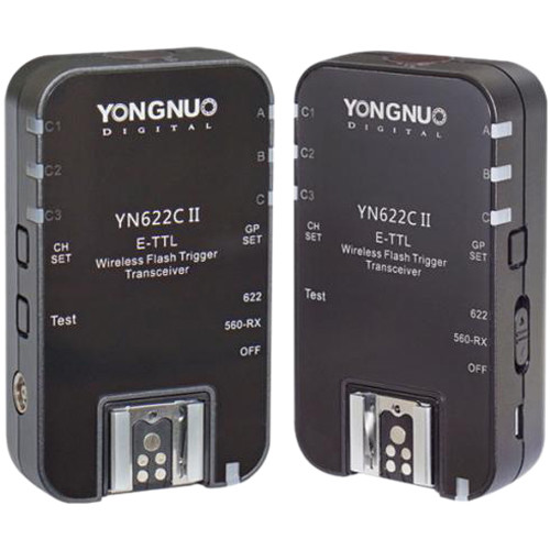 Image of Yongnuo YN-622C II E-TTL Wireless Flash Transceiver for Canon Cameras (2-Pack)