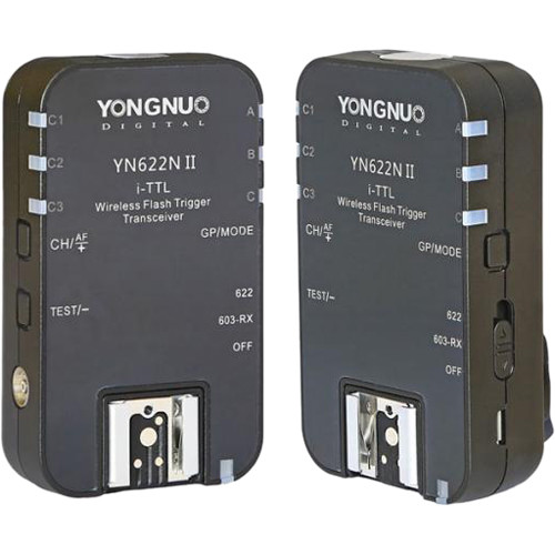 Image of Yongnuo YN-622N II i-TTL Wireless Flash Transceiver for Nikon Cameras (2-Pack)